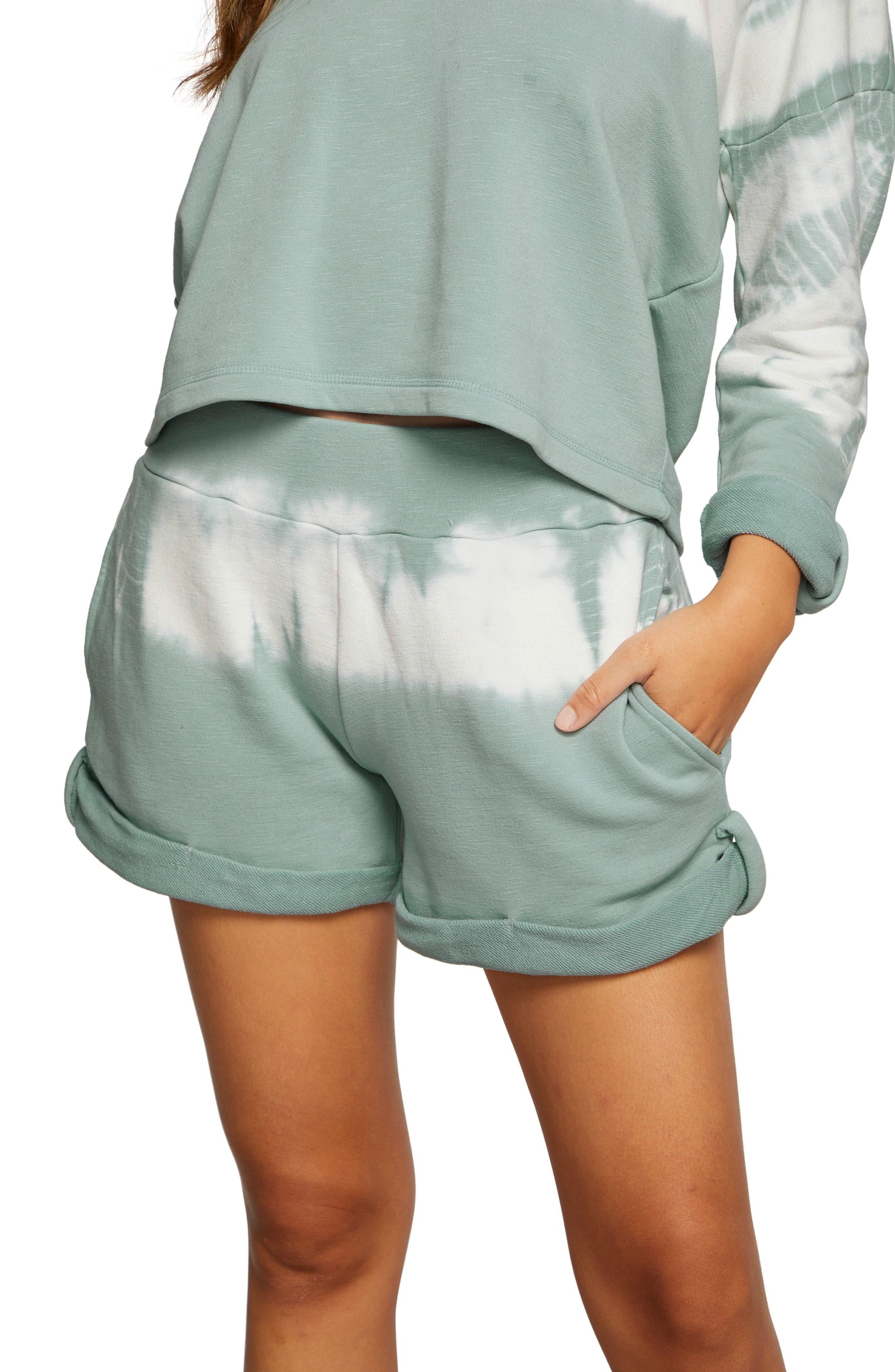 Tie Dye Rolled Hem Lounge Shorts