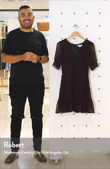 Printed Chiffon Minidress, sales video thumbnail