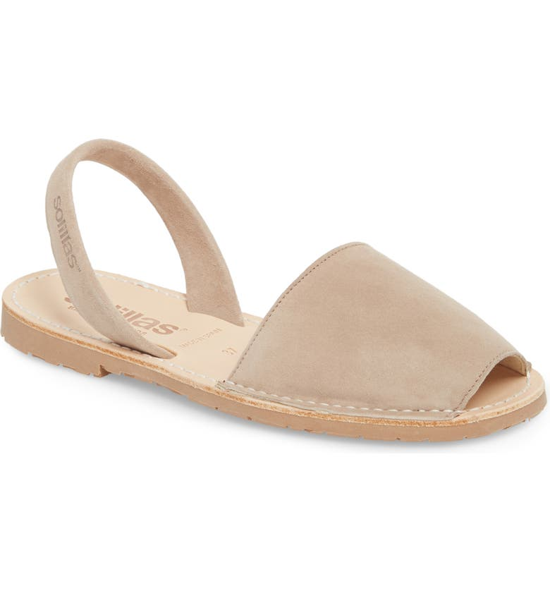 SOLILLAS Flat Sandal, Main, color, TAUPE