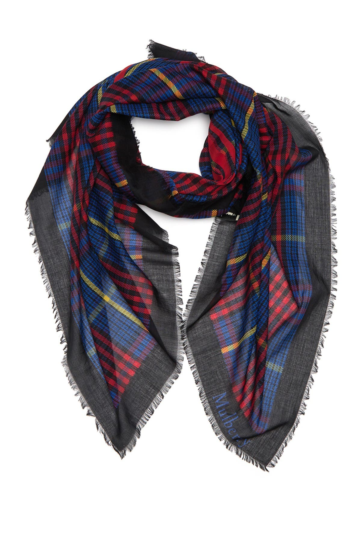Image of MULBERRY Plaid Square Scarf