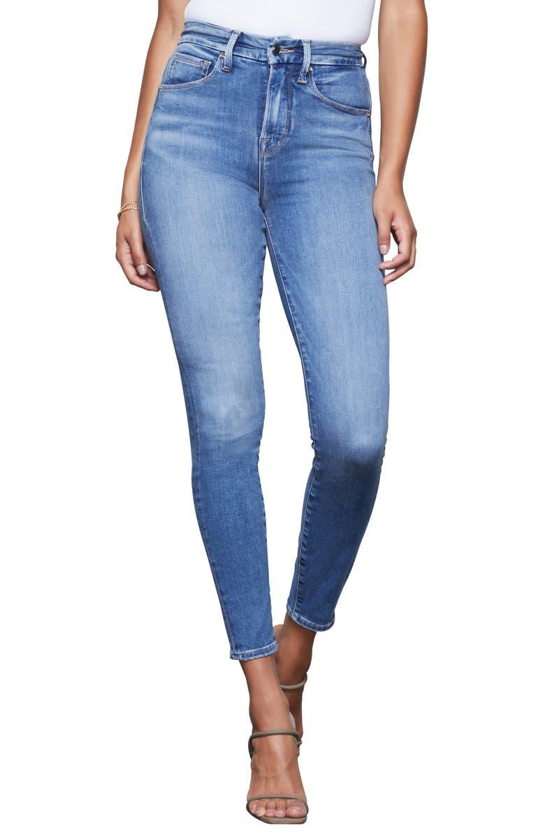 GOOD AMERICAN Good Waist High Waist Ankle Skinny Jeans, Main, color, 401