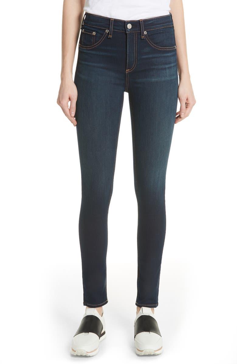 RAG & BONE DENIM High Waist Skinny Jeans, Main, color, BEDFORD