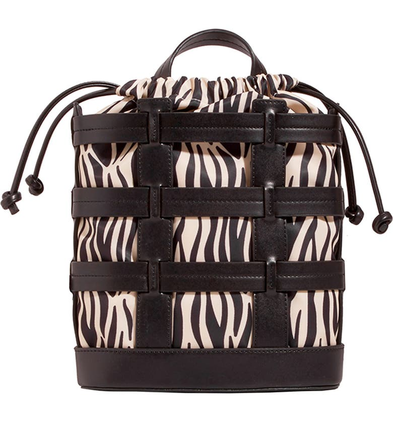 SKINNYDIP Cage Backpack, Main, color, BLACK MULTI