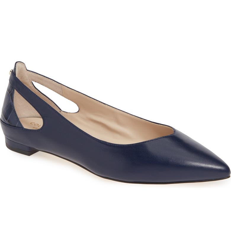 COLE HAAN Ramsey Flat, Main, color, MARINE BLUE LEATHER