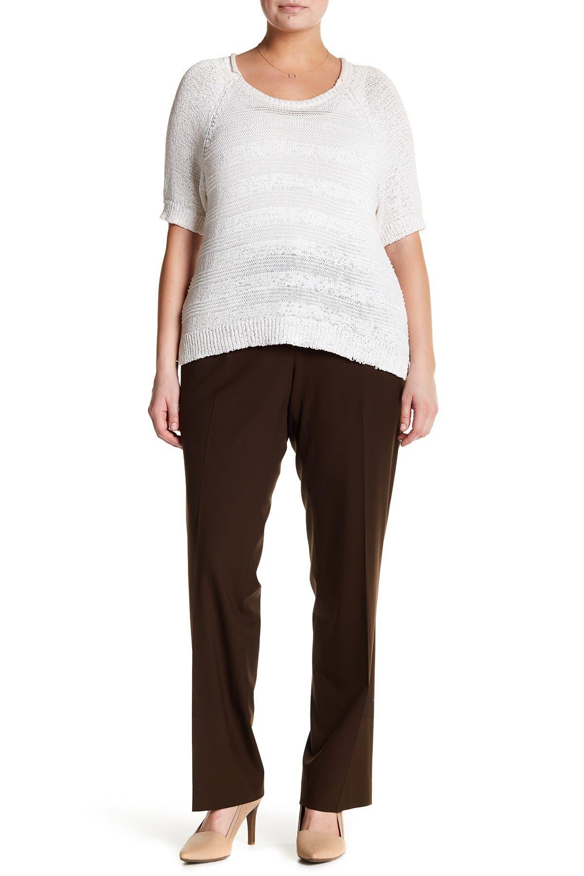 Image of Lafayette 148 New York Wool Blend Straight Leg Pants