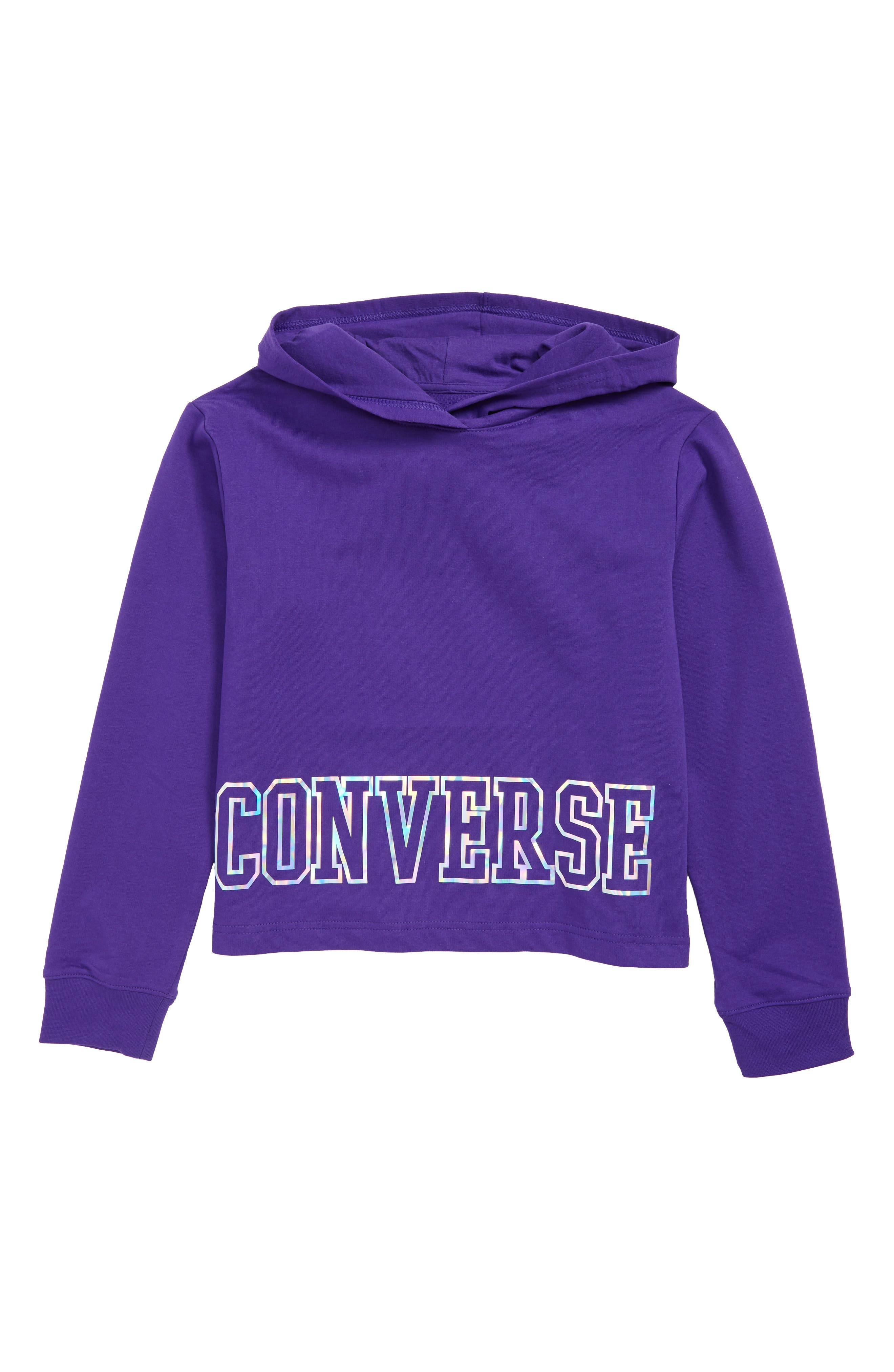 ,                             Iridescent Logo Hoodie,                             Main thumbnail 3, color,                             500