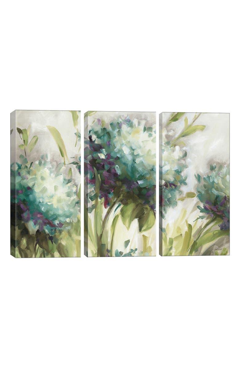 ICANVAS Hydrangea Field by Lisa Audit Giclée Print Canvas Art, Main, color, GREEN