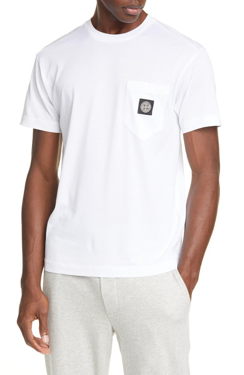 STONE ISLAND New Stone Patch Pocket T-Shirt, Main, color, 100