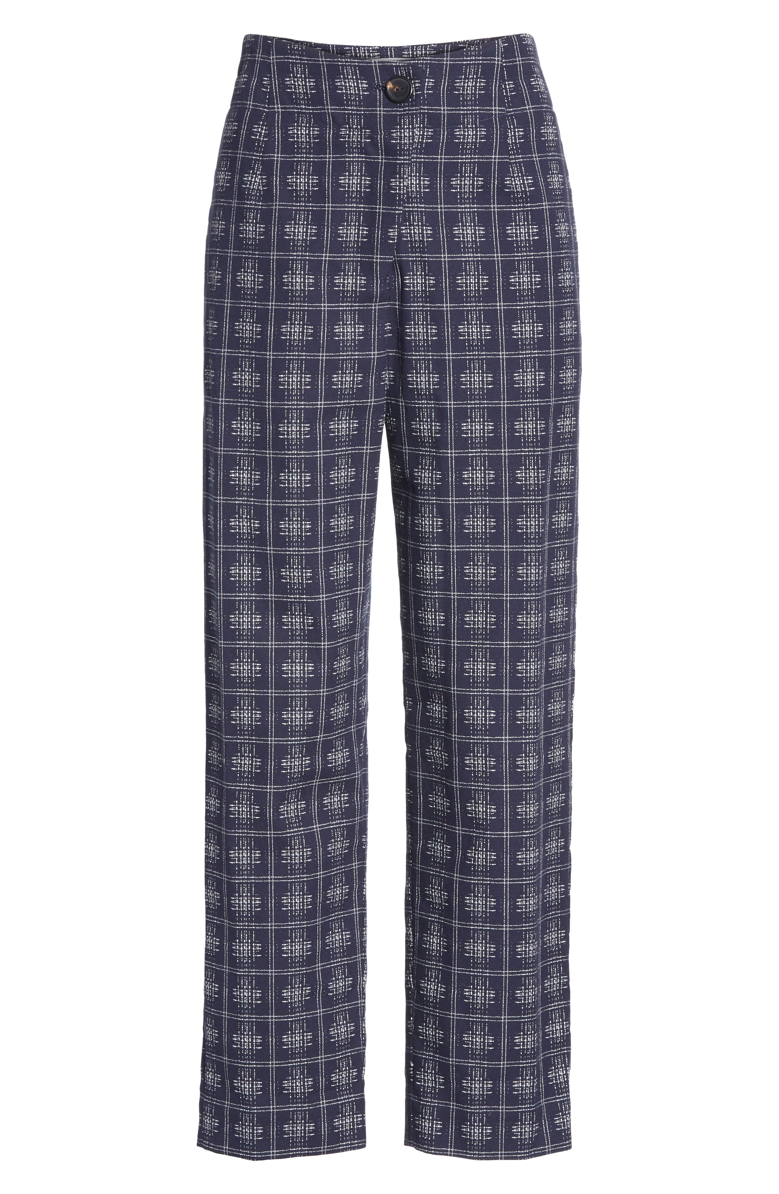 ,                             Fractured Trousers,                             Alternate thumbnail 6, color,                             NAVY CROSSHATCH CHECK