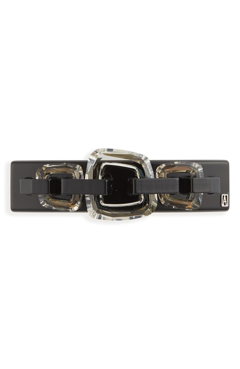 ALEXANDRE DE PARIS Barrette, Main, color, BLACK