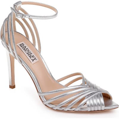 Badgley Mischka Andi Ankle Strap Sandal, Metallic