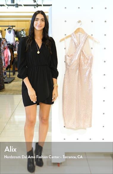 Sequin Cross Neck Body-Con Dress, sales video thumbnail