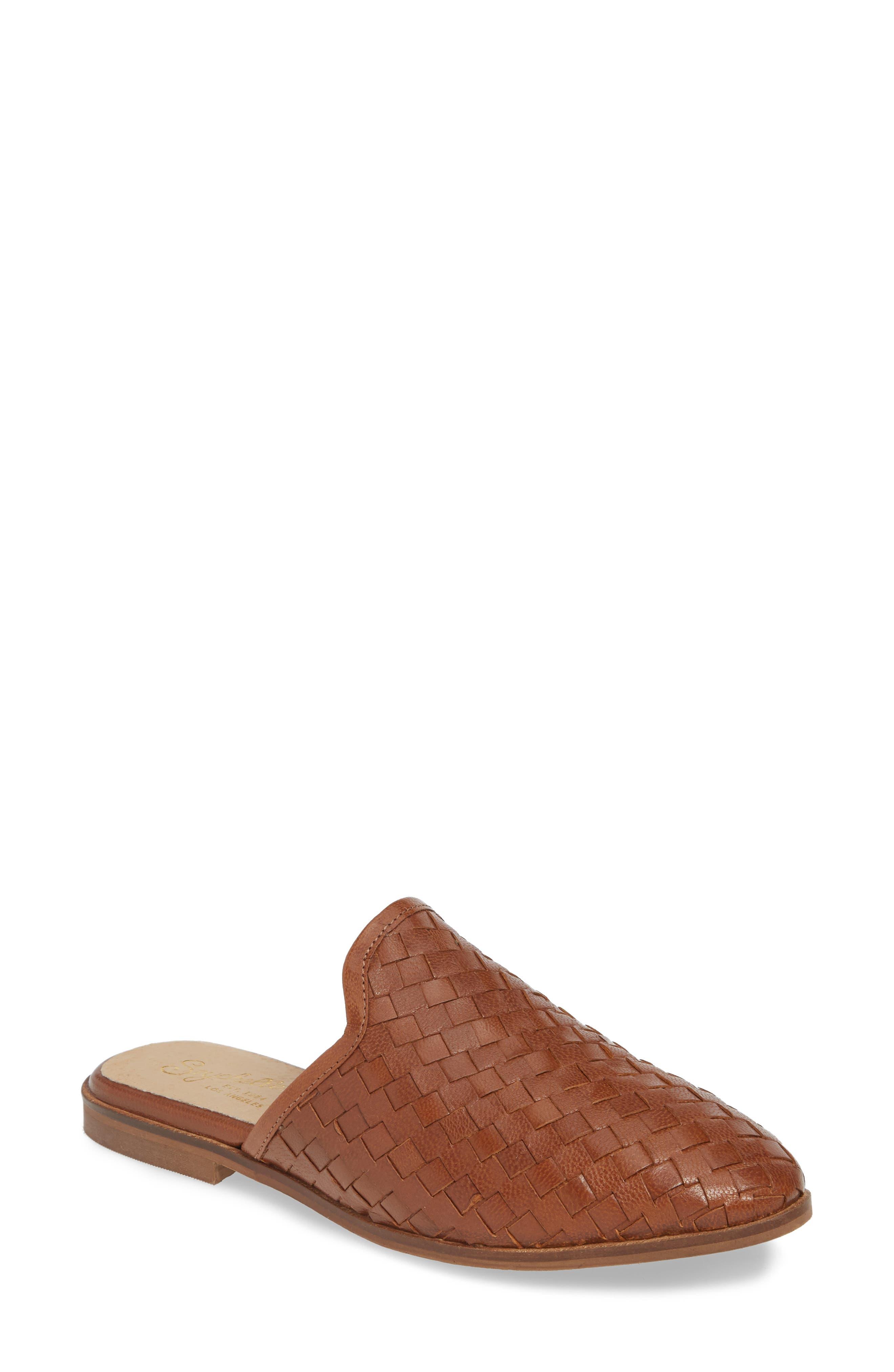 Seychelles Knickknack Woven Loafer Mule- Beige