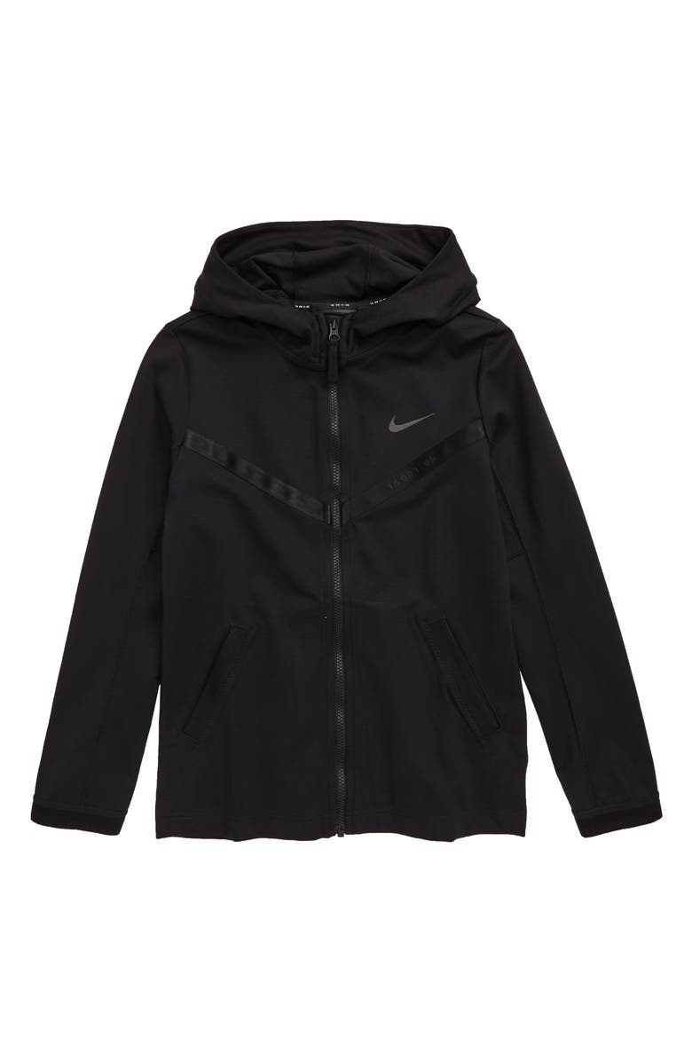 NIKE Tech Pack Zip Hoodie, Main, color, BLACK/ THUNDER GREY