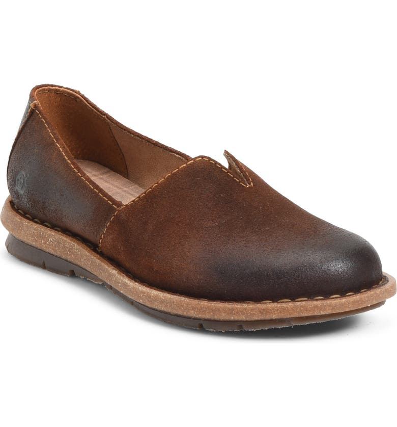 BØRN Tropi Flat, Main, color, BROWN GLAZED GINGER SUEDE