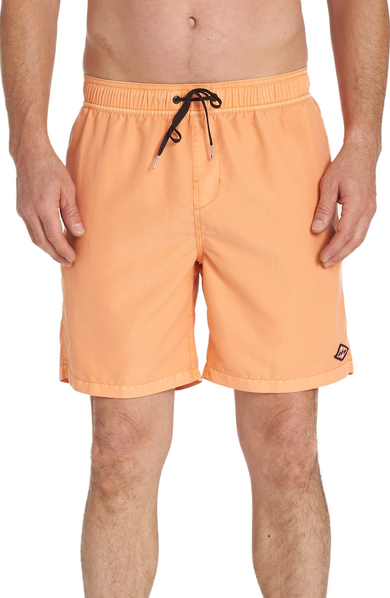 Billabong All Day Layback Swim Volley Trunks, Coral