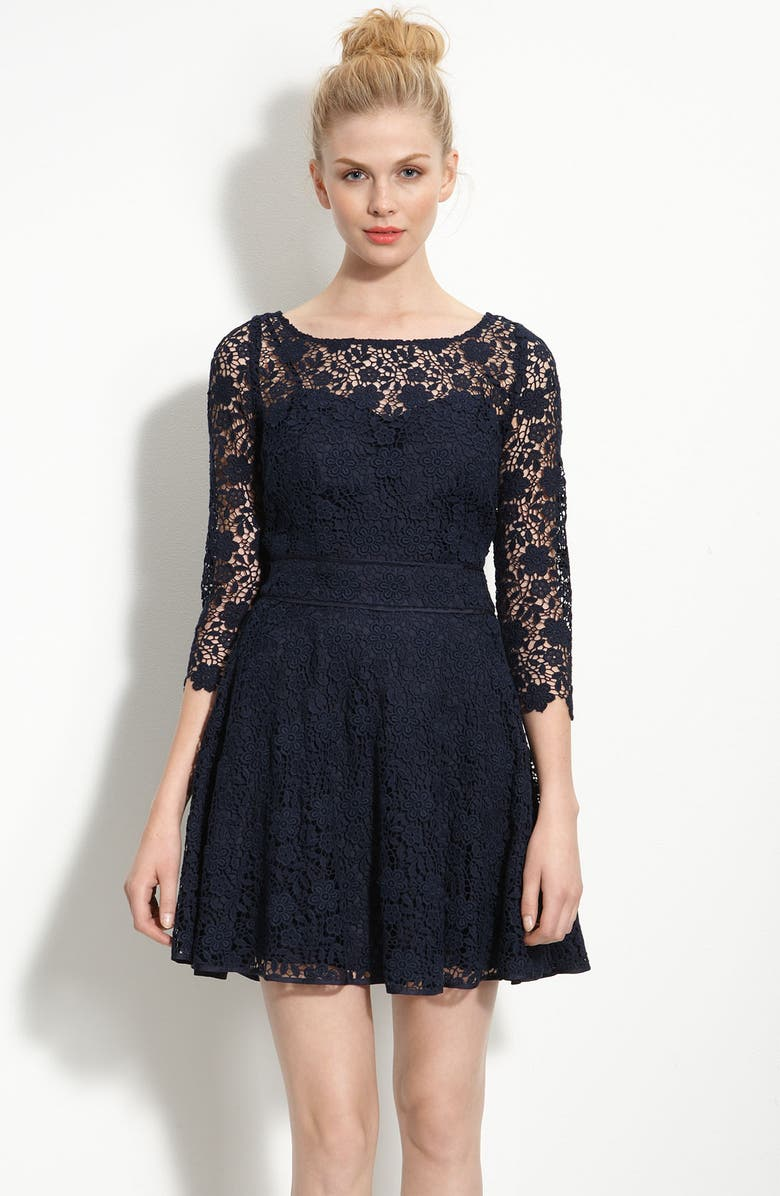 JUICY COUTURE 'Guipure' Lace Dress, Main, color, 401