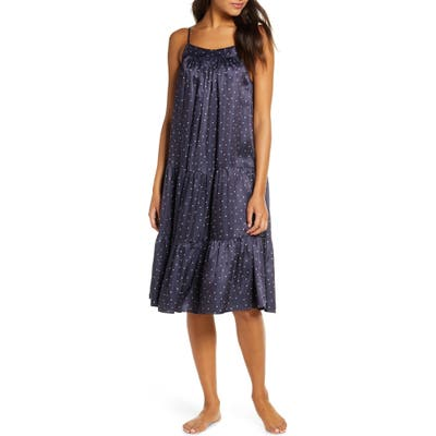 Papinelle Tiered Nightgown, Blue