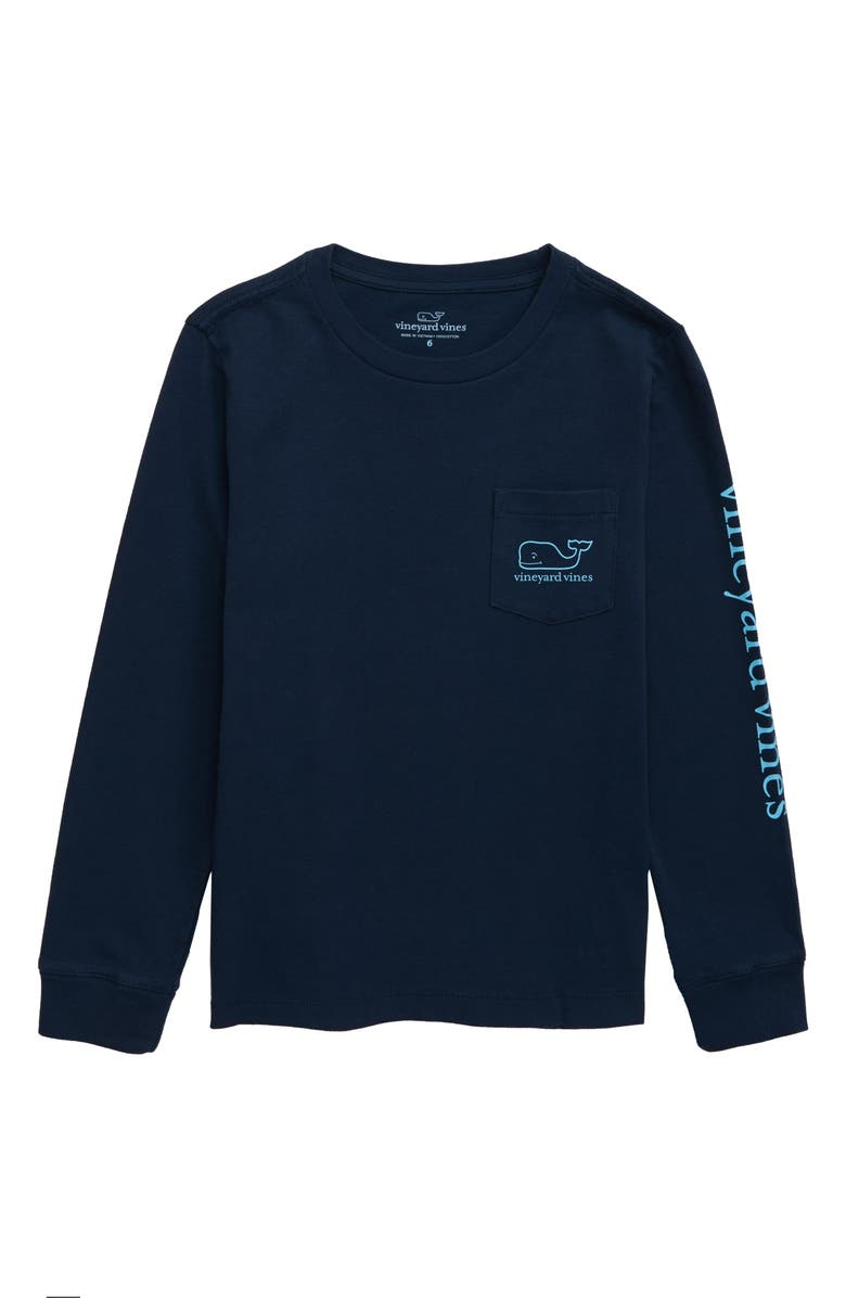VINEYARD VINES Glow in the Dark Whale T-Shirt, Main, color, BLUE BLAZER