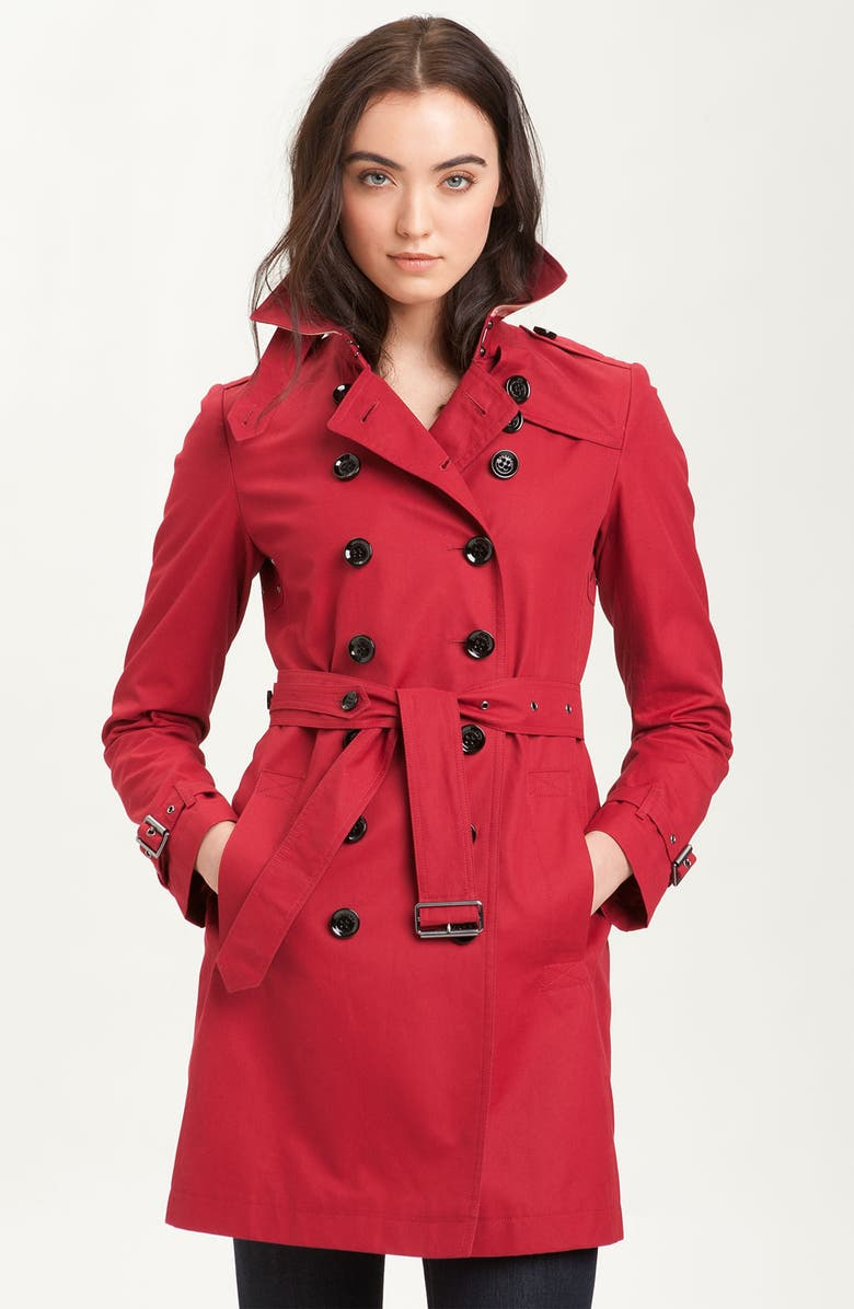 BURBERRY BRIT Double Breasted Trench, Main, color, 609