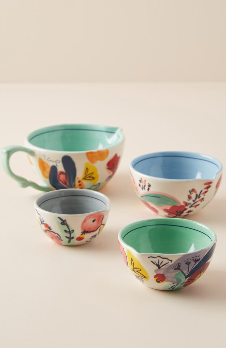 ANTHROPOLOGIE HOME Anthropologie Set of 4 Milton Measuring Cups, Main, color, 447