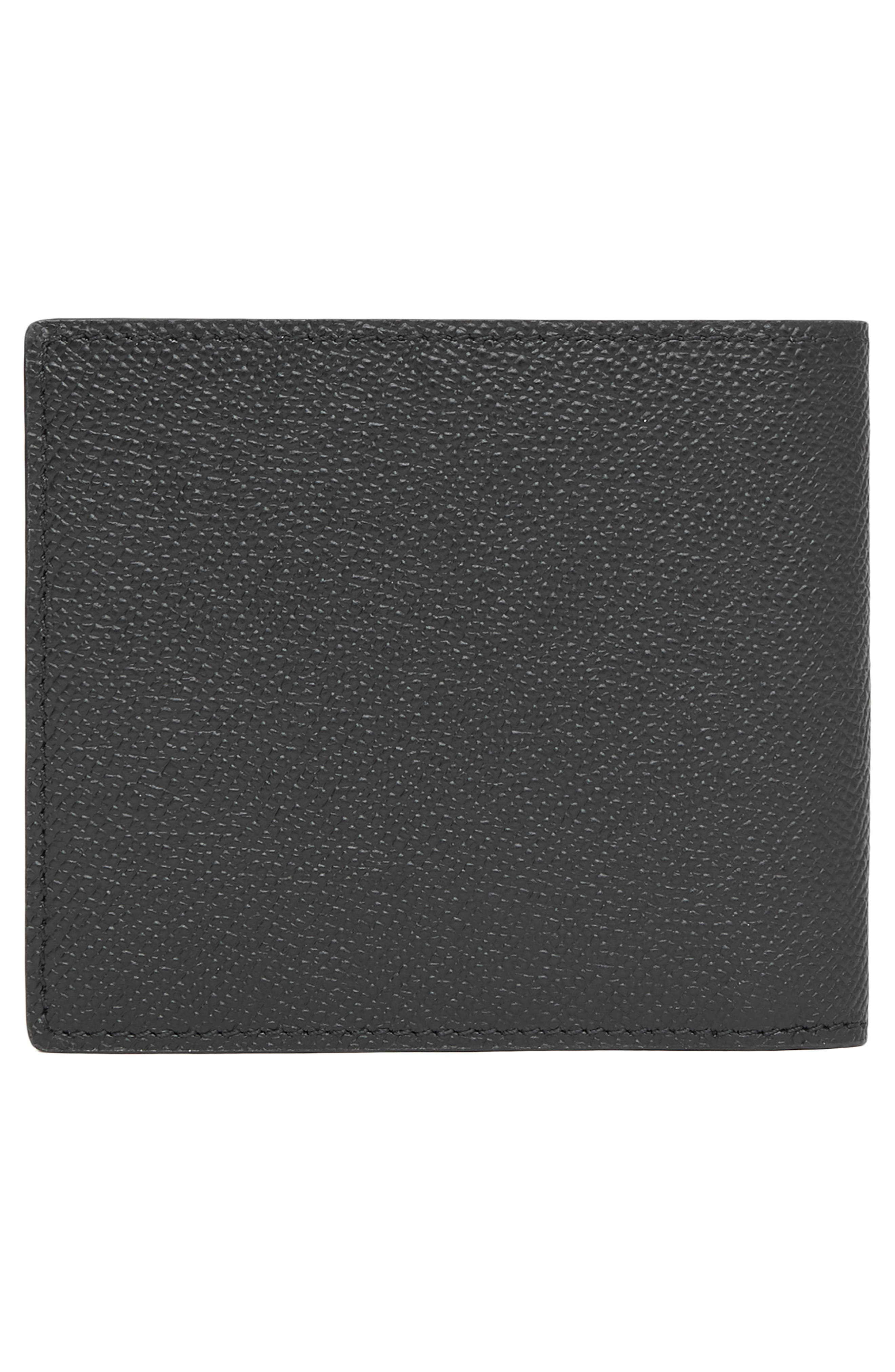 ,                             Leather International Wallet,                             Alternate thumbnail 3, color,                             BLACK