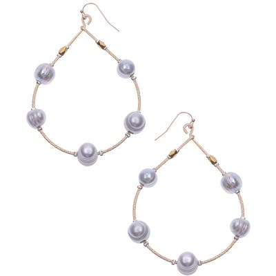 Nakamol Design Cultured Pearl Teardrop Earrings