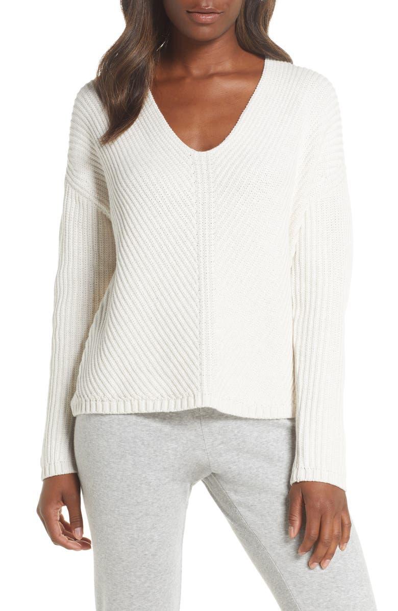 UGG<SUP>®</SUP> Criss Diagonal Stitch Sweater, Main, color, CREAM HEATHER