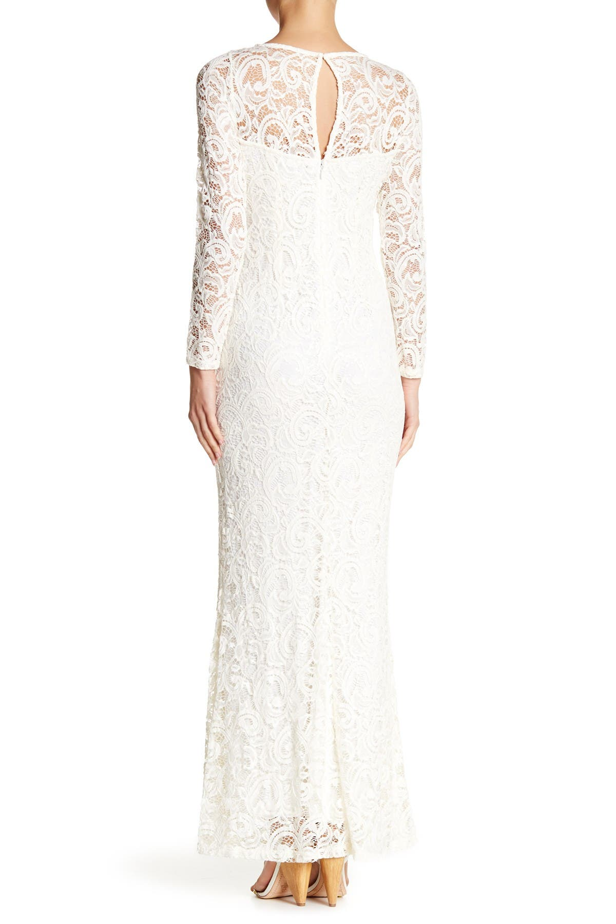 Image of Marina Long Sleeve Sequin Lace Gown