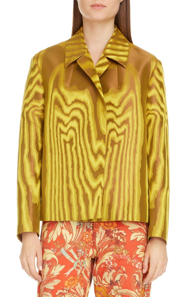 DRIES VAN NOTEN Rolta Crop Jacquard Jacket, Main, color, 710