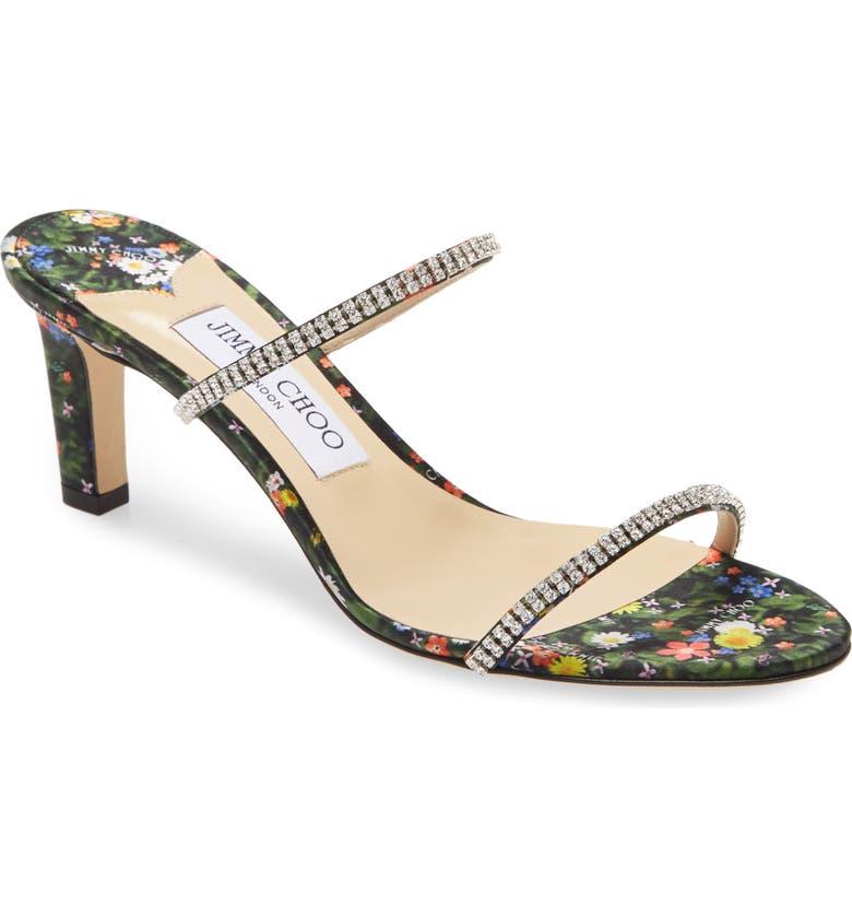 JIMMY CHOO Brea Crystal Embellished Slide Sandal, Main, color, 001