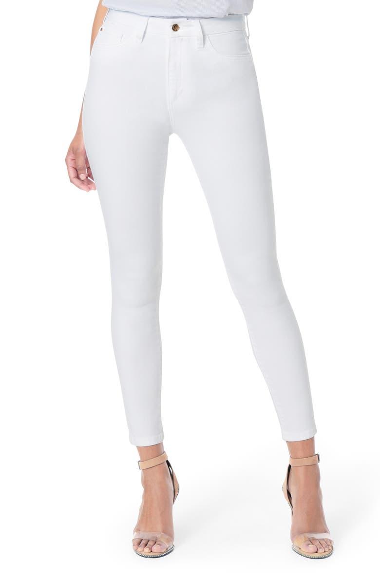 JOE'S Flawless Honey Curvy High Waist Ankle Skinny Jeans, Main, color, 100