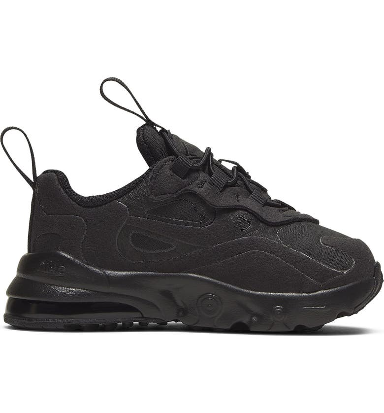 NIKE Air Max 270 React Sneaker, Main, color, BLACK/ BLACK/ BLACK