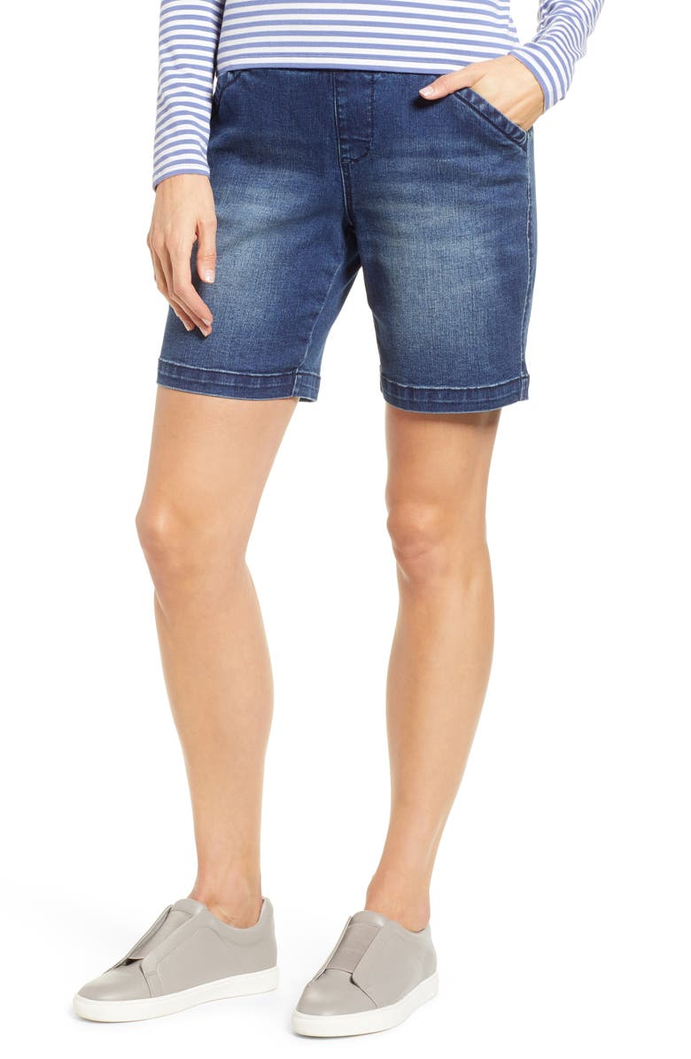 JAG JEANS Gracie Stretch Denim Shorts, Main, color, FLAT IRON