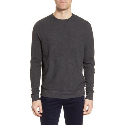 Nordstrom Shop Textured Crewneck Sweater, Grey