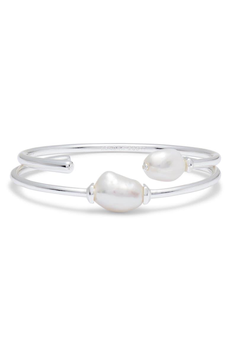 KENDRA SCOTT Amiya Natural Pearl Bracelet, Main, color, 040