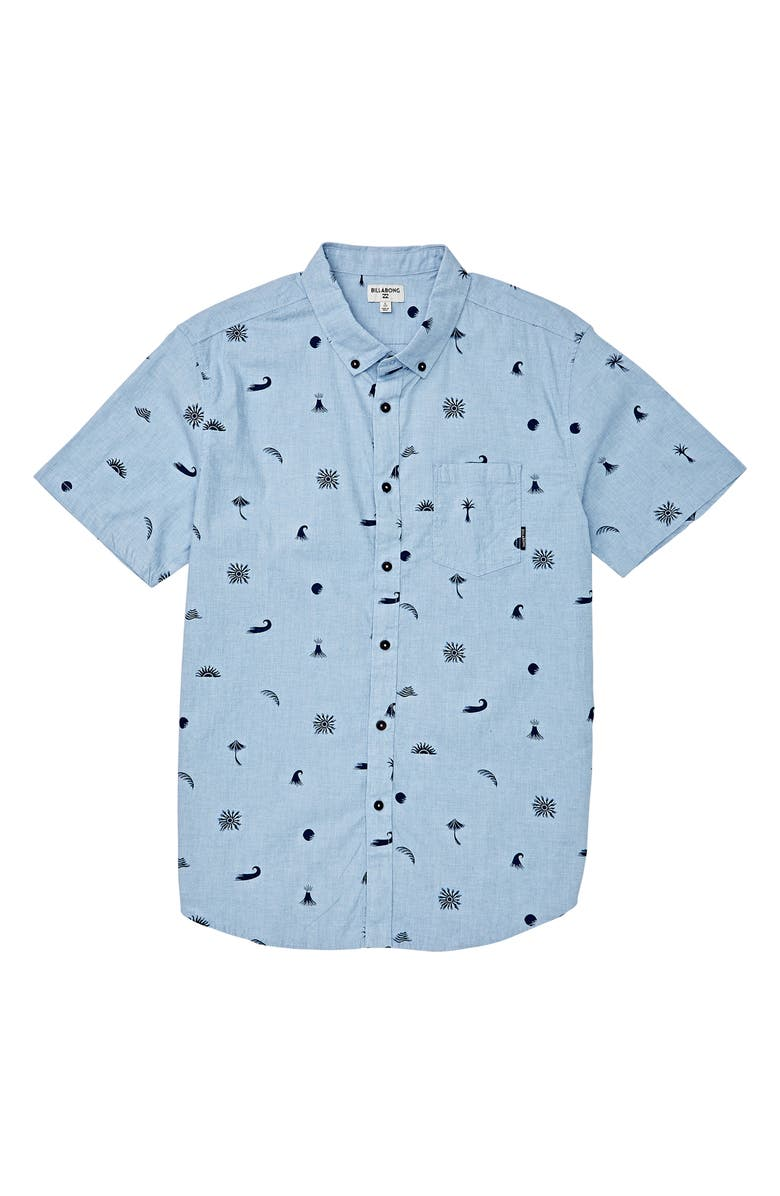 BILLABONG Sundays Button-Down Shirt, Main, color, COASTAL