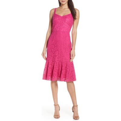 Chelsea28 Sleeveless Lace Fit & Flare Dress, Pink