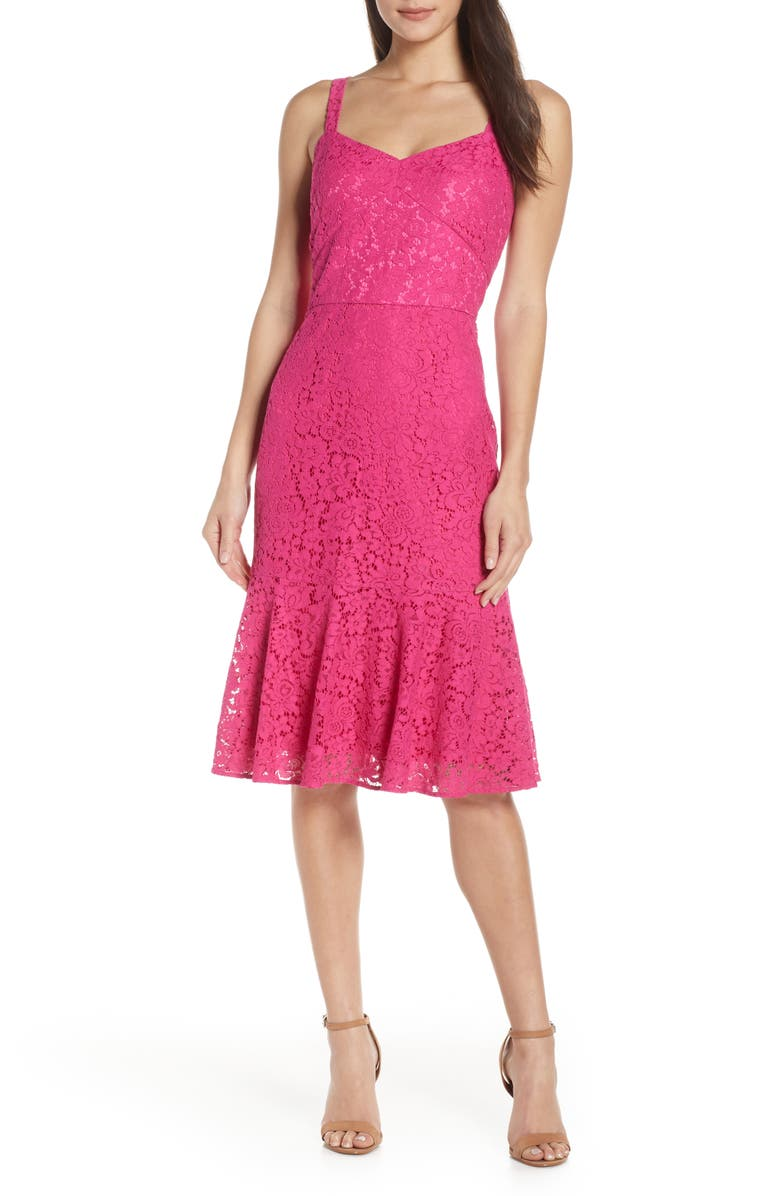 CHELSEA28 Sleeveless Lace Fit & Flare Dress, Main, color, 660