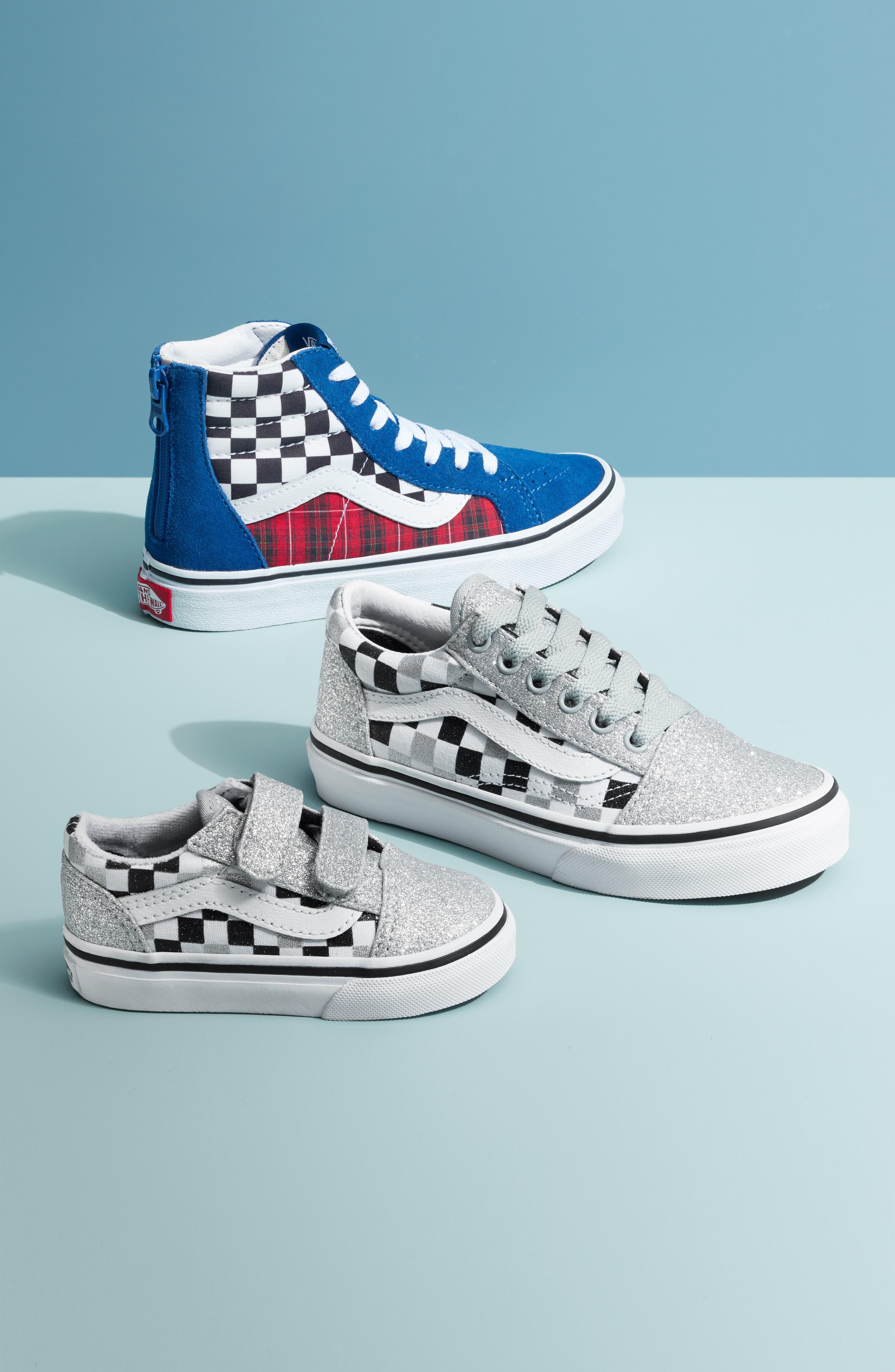 Boys Vans Sk8Hi Zip Sneaker Size 6 M  Blue