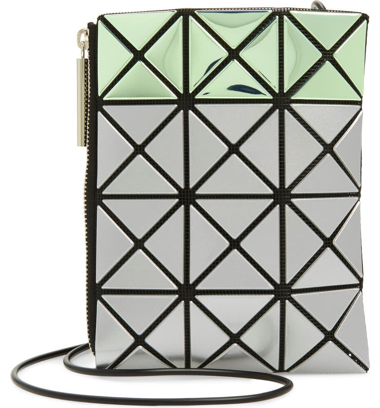 BAO BAO ISSEY MIYAKE Platinum Mermaid Crossbody Bag, Main, color, LIGHT GREEN X SILVER