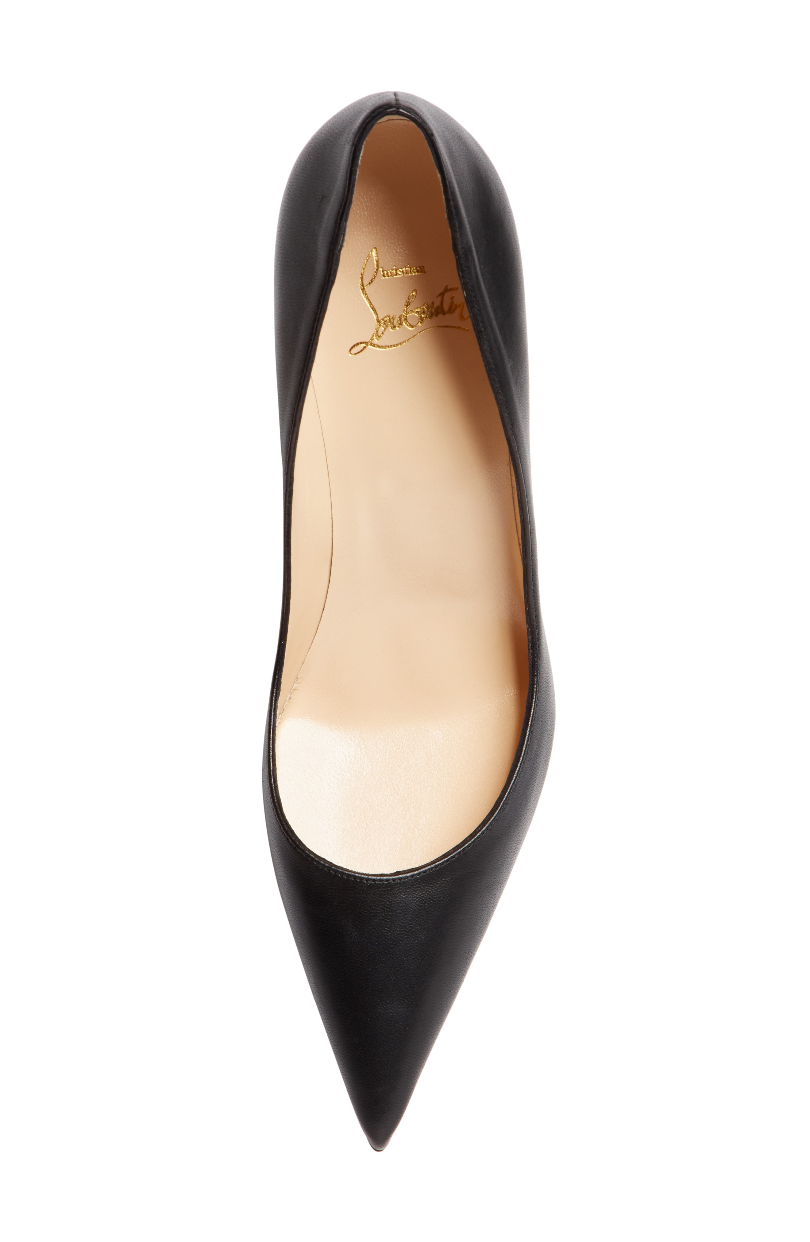 ,                             Clare Pointy Toe Pump,                             Alternate thumbnail 5, color,                             BLACK LEATHER