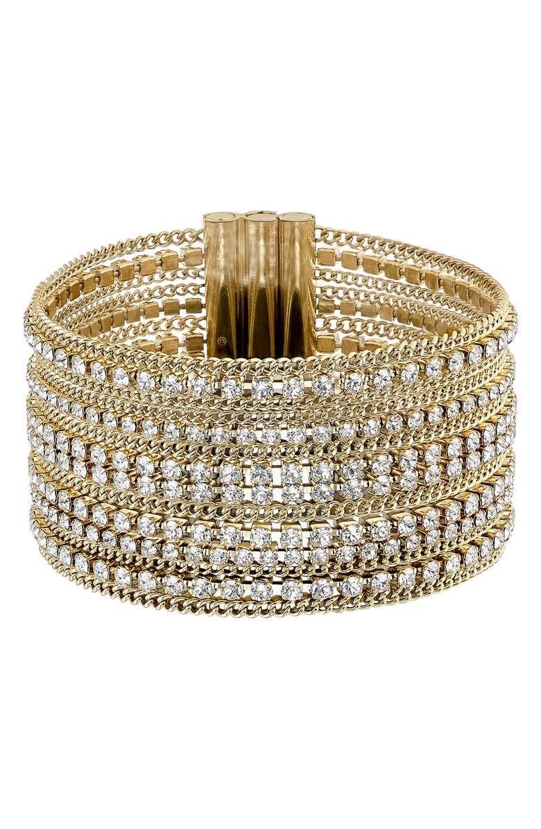 SWAROVSKI Fit Wide Bracelet, Main, color, 710