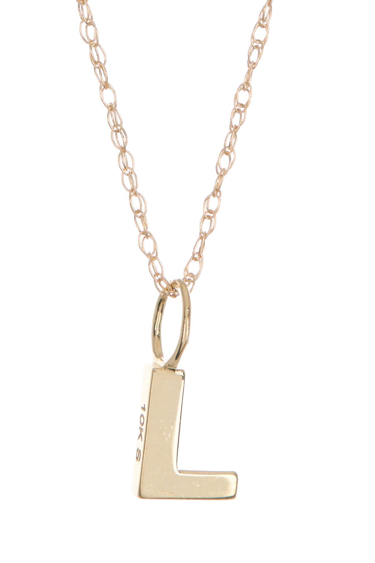 Image of Candela 10K Yellow Gold Iniital Pendant Necklace