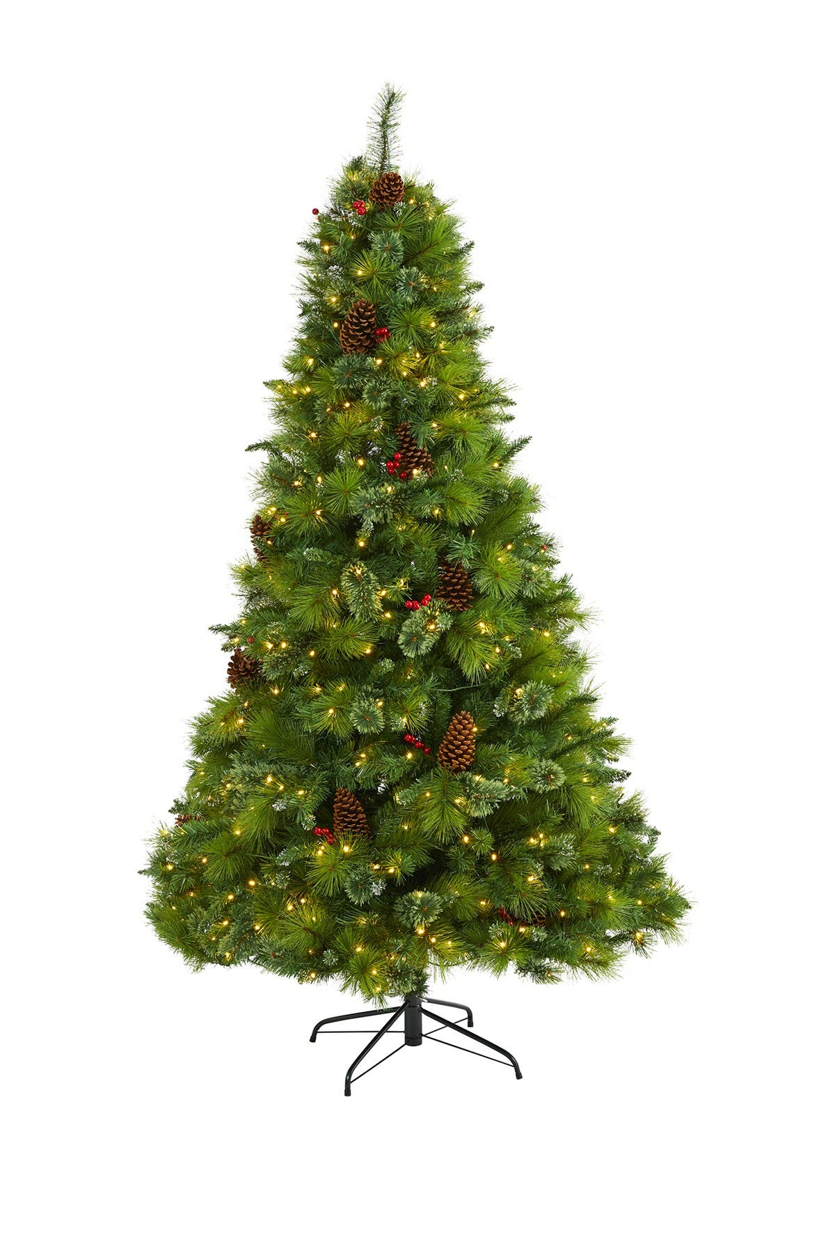 Image of NEARLY NATURAL 7ft. Montana Mixed Pine Artificial Christmas Tree