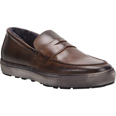 Ross & Snow Matteo Genuine Shearling Loafer Sneaker, Brown