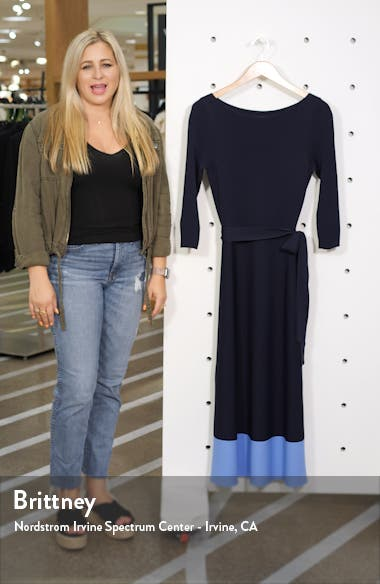 Colorblock Sweater Dress, sales video thumbnail