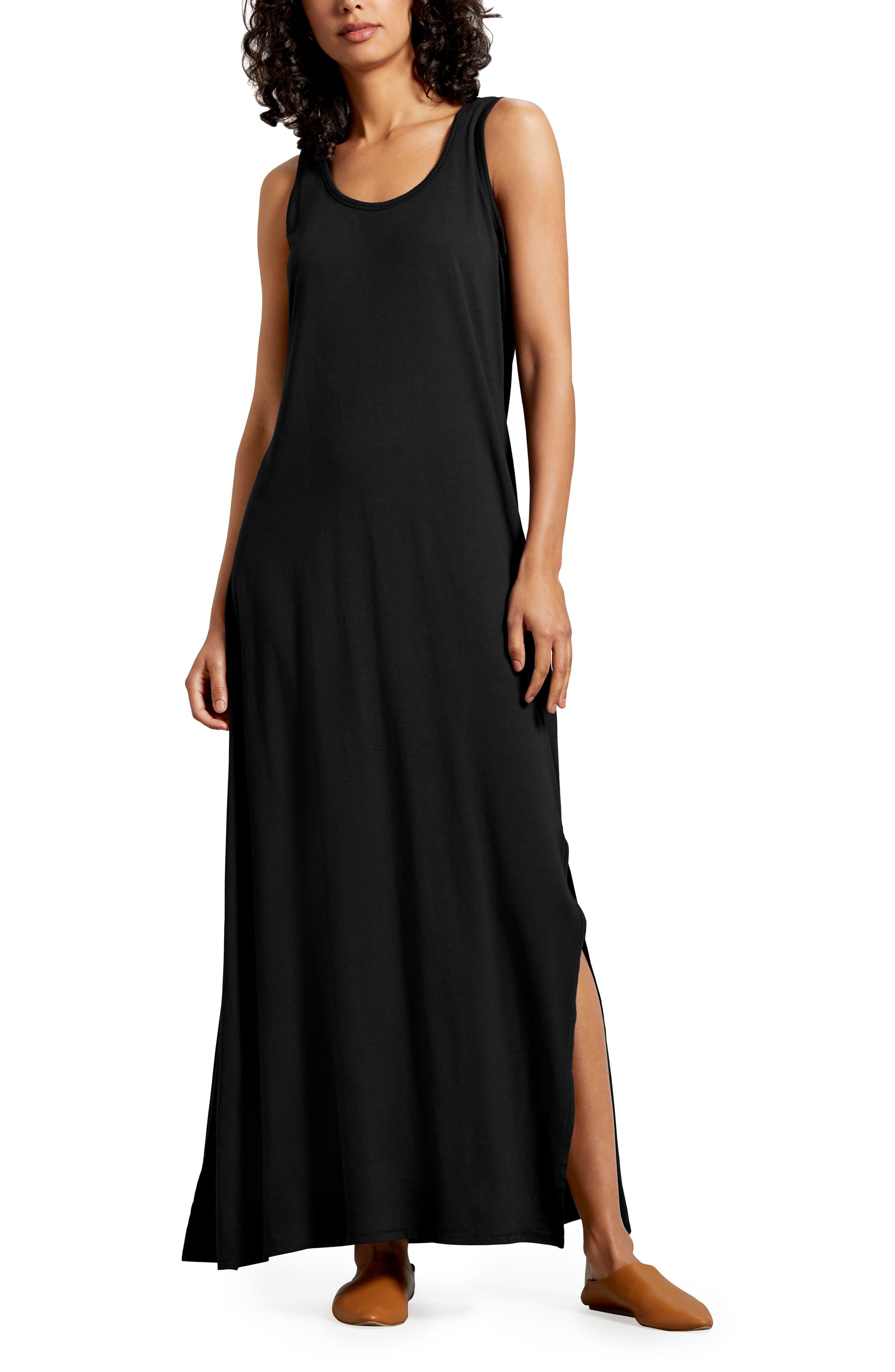 Michael Stars Isabelle Cotton & Modal Maxi Dress, Black