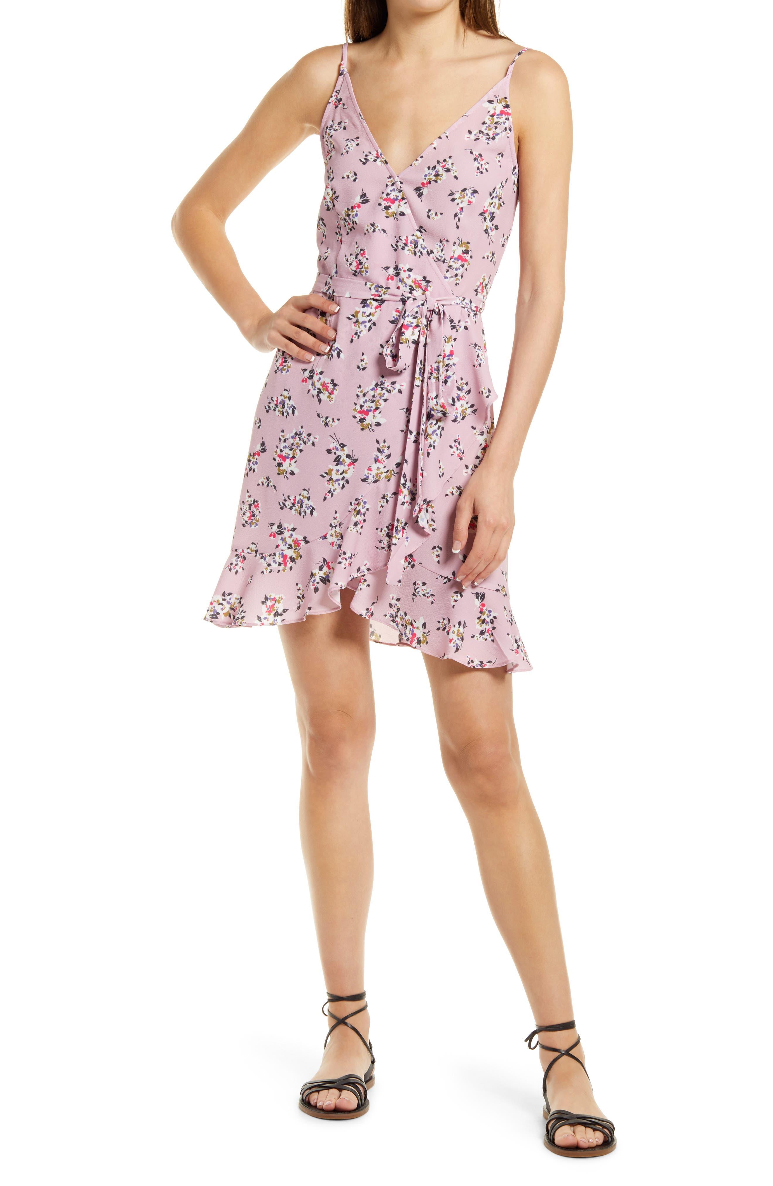 River Daisy Sleeveless Faux Wrap Dress