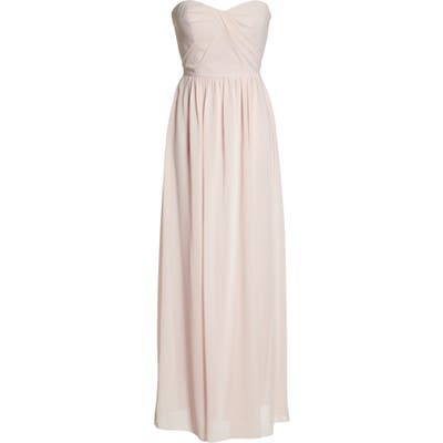 Social Bridesmaids Strapless Georgette Gown, Pink